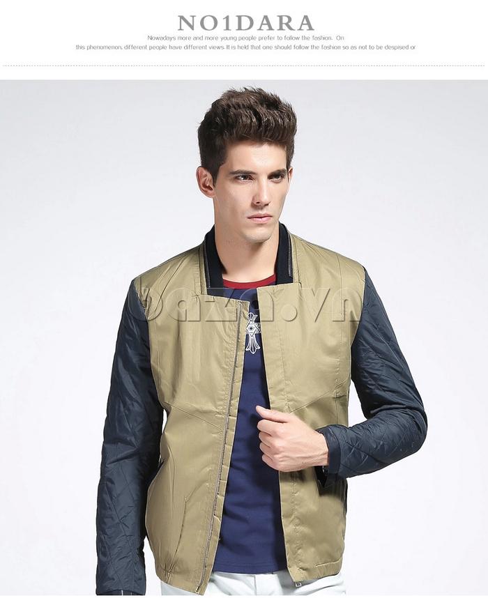 áo khoác nam No1Dara WTN38503 phối màu kiểu dáng áo bóng chày