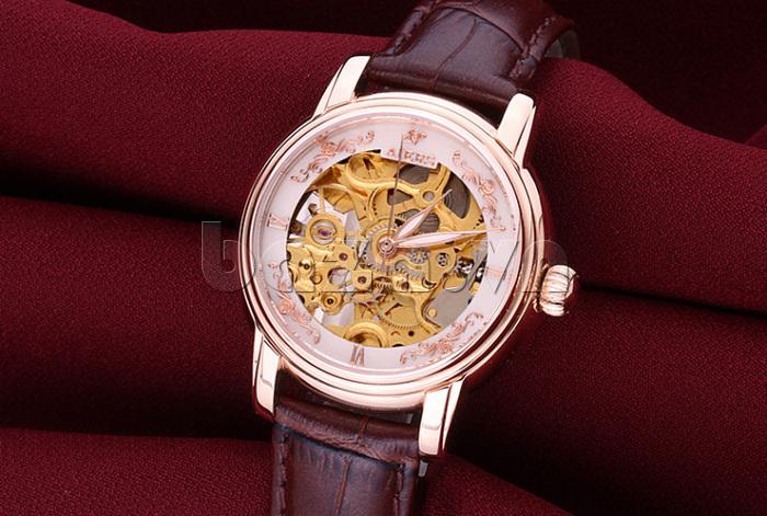Đồng hồ cơ nữ cao cấp Aiers B202L