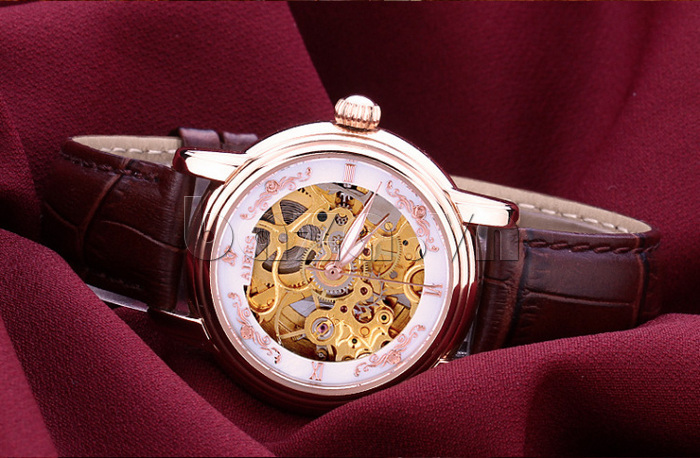 Đồng hồ cơ nữ  đắt tiền Aiers B202L