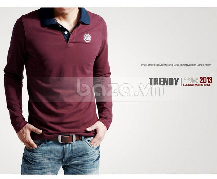 Baza.vn: Áo T-shirt nam thu đông MT-088LR