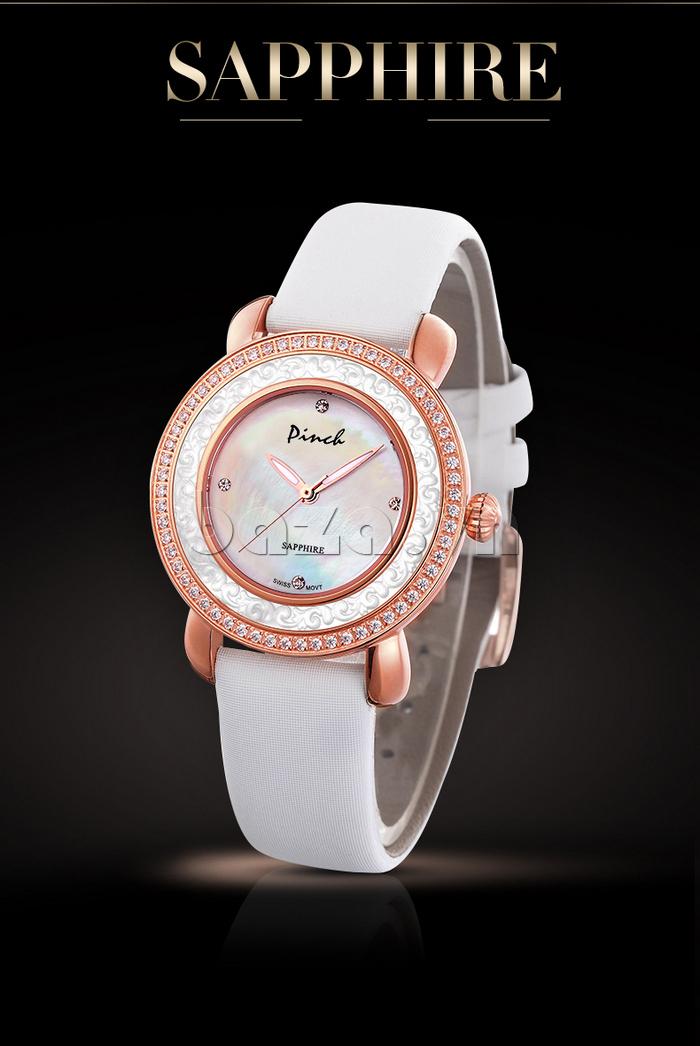 Đồng hồ nữ Pinch L613-P11L kim dạ quang hoàn hảo mọi chi tiết