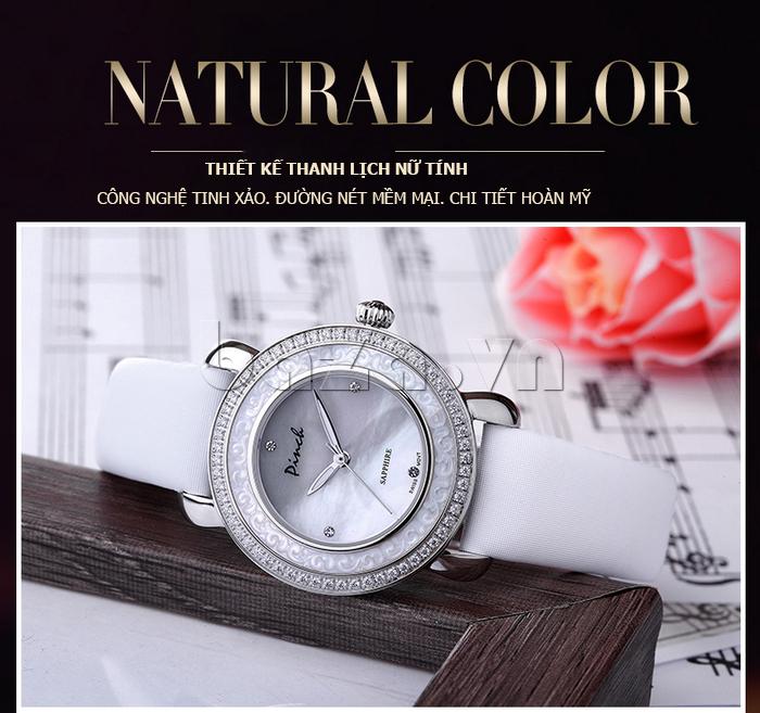 Đồng hồ nữ Pinch L613-P11L kim dạ quang vẻ đẹp lôi cuốn hàng đầu