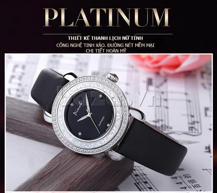 Đồng hồ nữ Pinch L613-P11L kim dạ quang thanh lịch nữ tính