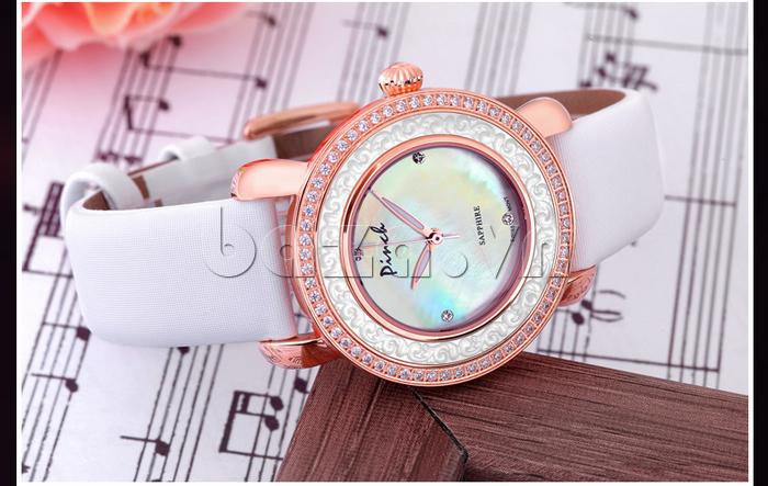 Đồng hồ nữ Pinch L613-P11L kim dạ quang dây da mềm mại