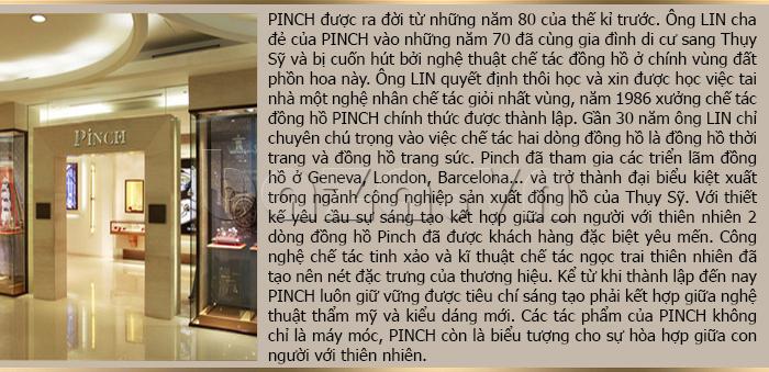 Đồng hồ nữ Pinch L613-P11L kim dạ quang thời trang phong cách
