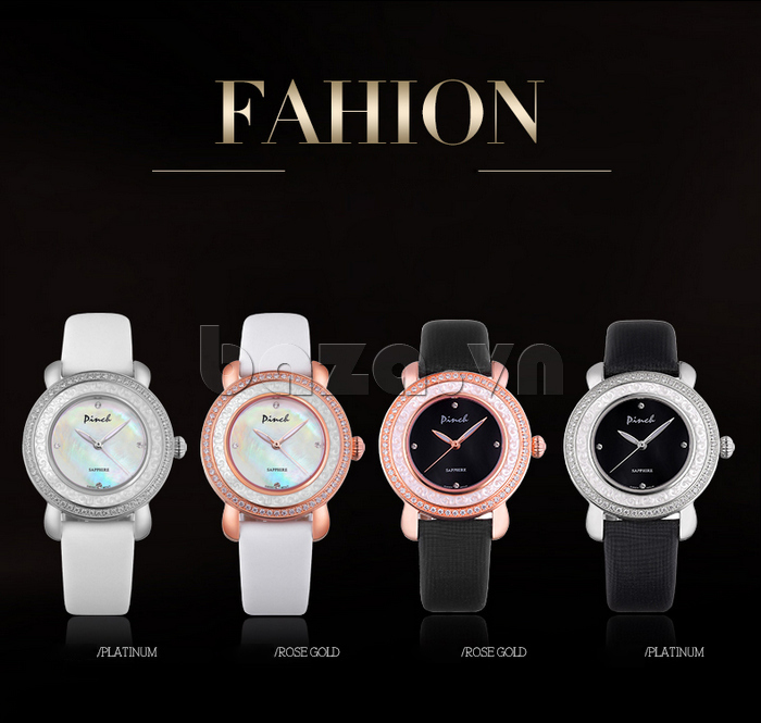 Đồng hồ nữ Pinch L613-P11L kim dạ quang màu sắc đa dạng