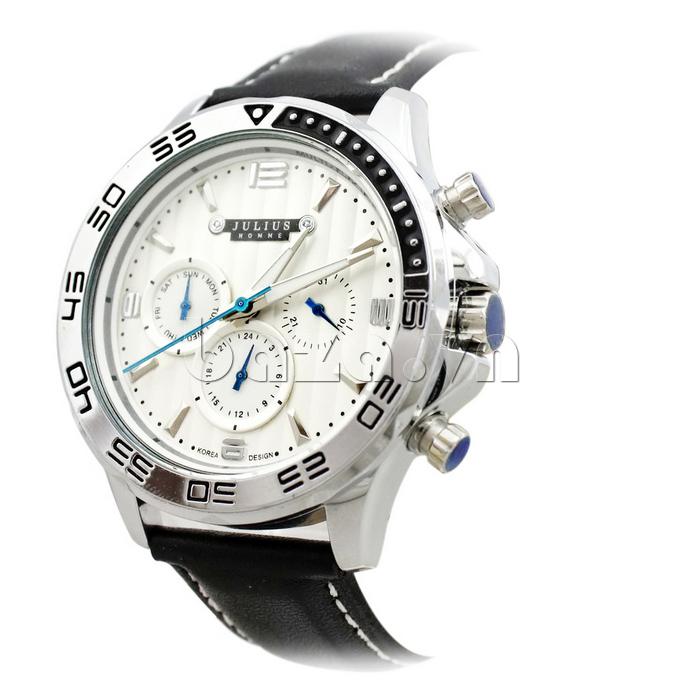 Đồng hồ nam dây da Julius JAH-061 cuốn hút