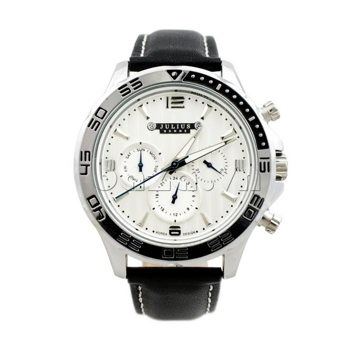 Đồng hồ nam dây da Julius JAH-061 tinh tế