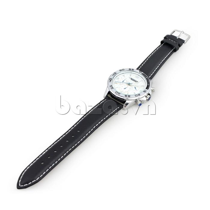 Đồng hồ nam dây da Julius JAH-061 hiện đại