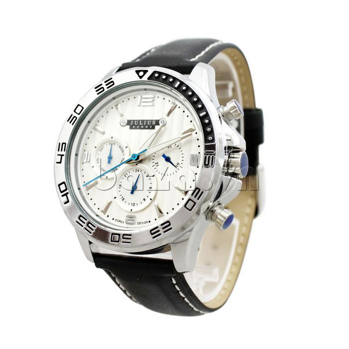 Đồng hồ nam dây da Julius JAH-061 sang trọng