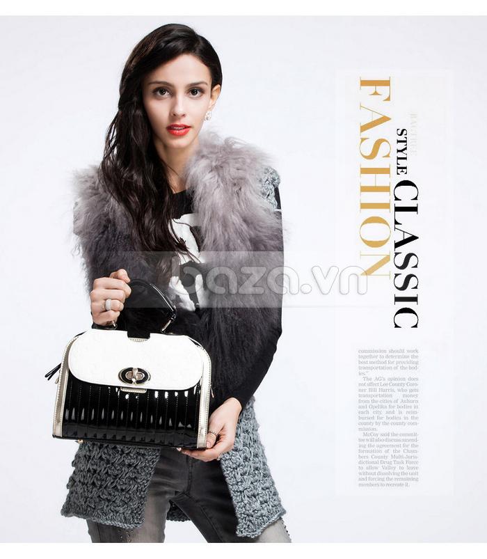 Baza.vn: Túi xách thời trang nữ Binnitu phong cách cổ điển chất liệu da cao cấp