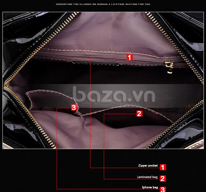 Baza.vn: Túi xách thời trang nữ Binnitu phong cách cổ điển thiết kế túi xách tiện dụng