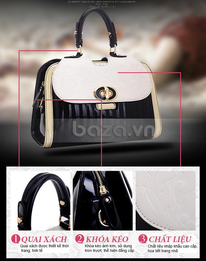 Baza.vn:  Túi xách thời trang nữ Binnitu phong cách cổ điển dây đeo chịu lực tốt