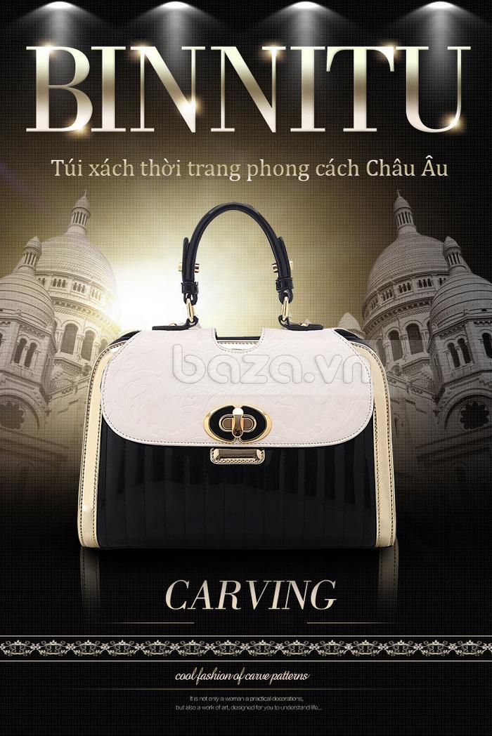 Baza.vn:  Túi xách thời trang nữ Binnitu phong cách cổ điển túi xách phong cách châu Âu