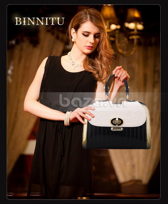 Baza.vn: Túi xách thời trang nữ Binnitu phong cách cổ điển sang trọng, cá tính, ấn tượng