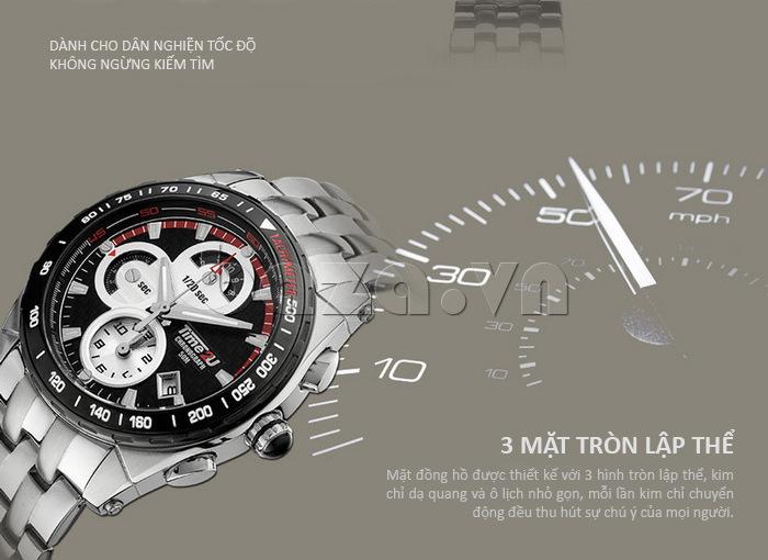 Đồng hồ nam Time2U Phong Cách Mạnh Mẽ trẻ trung