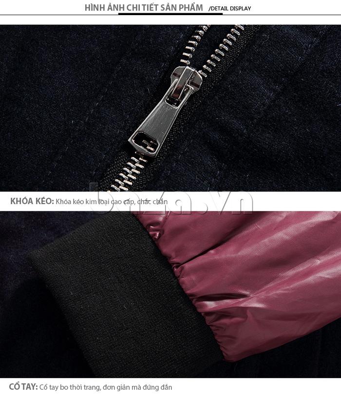 Áo khoác nam khóa kéo kim loại cao cấp, chắc chắn