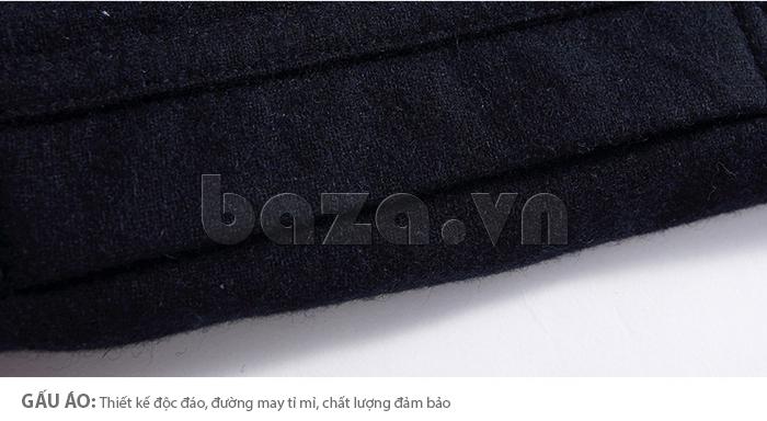Gấu áo thiết kế độc đáo, đường may tỉ mỉ với chất lượng đảm bảo