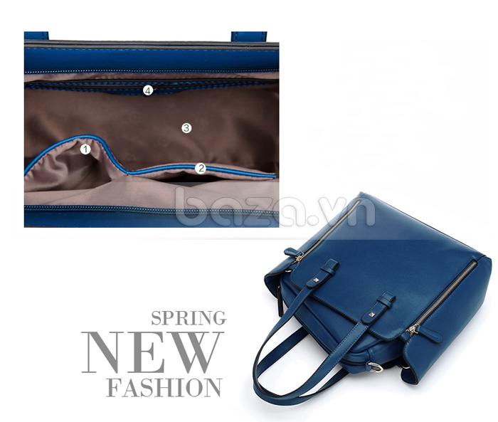 Túi nữ thời trang Binnitu 1733 có nhiều ngăn cho bạn đựng đồ