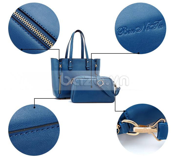 Túi nữ thời trang Binnitu 1733 khóa kéo thời trang không bị rỉ sét