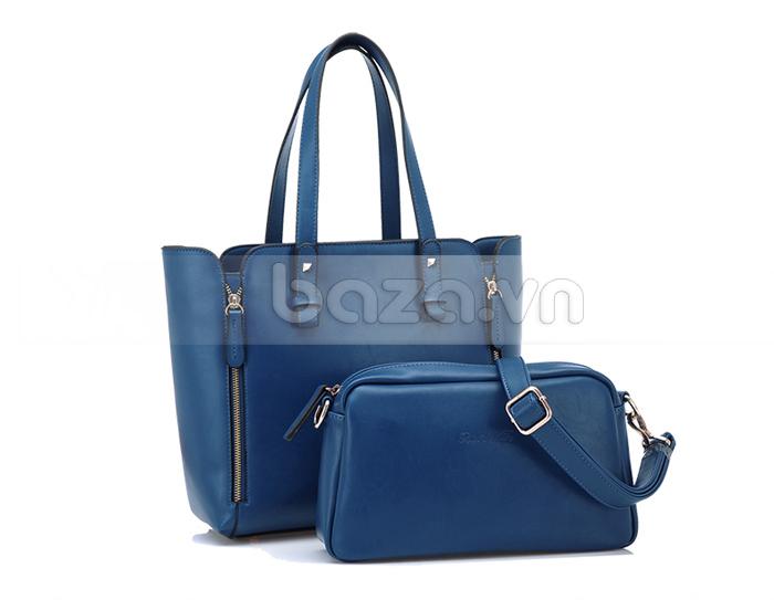 Túi nữ thời trang Binnitu 1733 hai mẫu túi to nhỏ lồng ghép lại với nhau