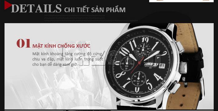 Đồng hồ nam Time2U Phong Cách Năng Động mặt kính chống xước