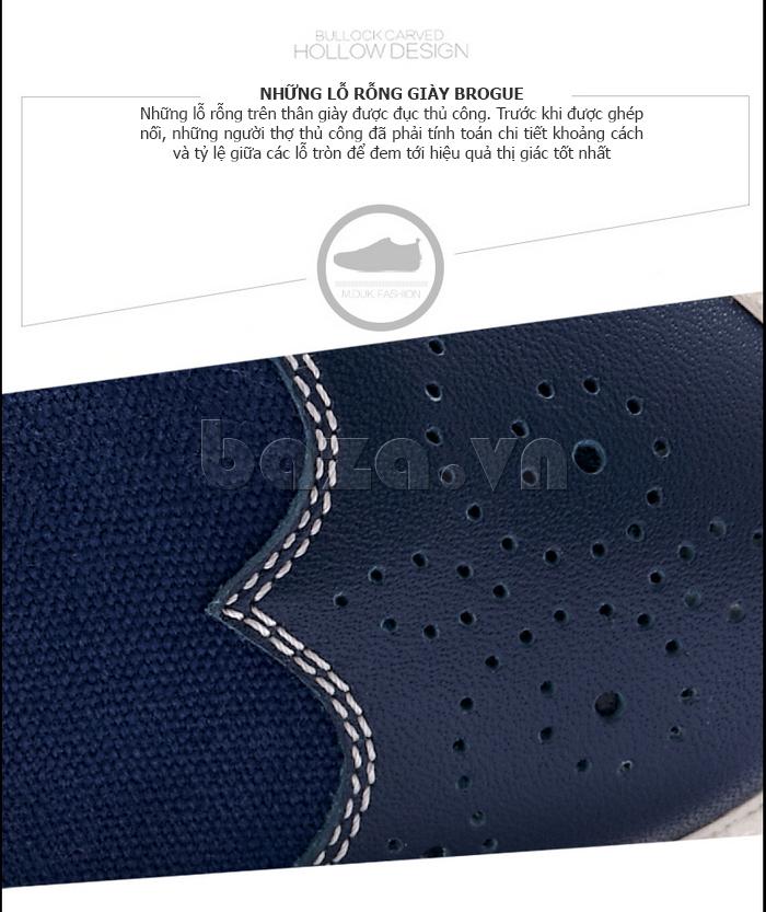 Giày da nam CDD 1259 thiết kế lỗ rỗng trên thân giày