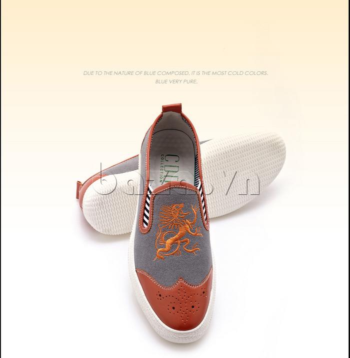 Giày da nam CDD 1259 có họa tiết con rồng