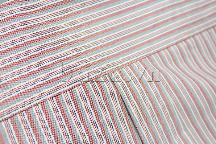 Áo sơ mi nam dài tay phối sọc Oxford II chất liệu vải áo mềm mại