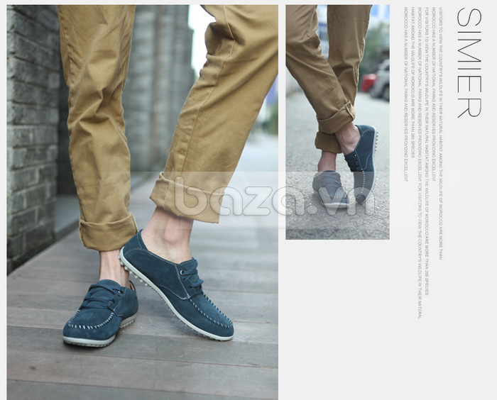 Baza.vn: Giày da nam Simier phong cách Hàn Quốc - Đế hạt đậu