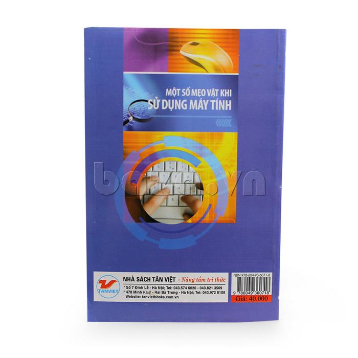 bìa sau sách Một số mẹo  vặt khi sử dụng máy tính