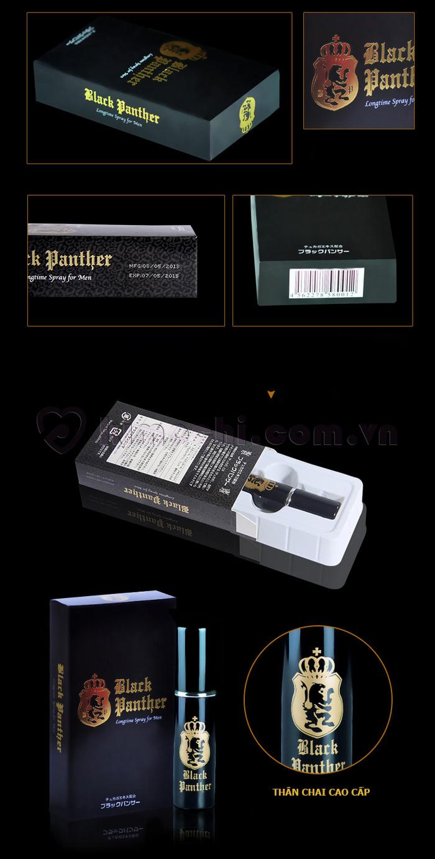 Dung dịch dạng phun kéo dài thời gian quan hệ BLACK PANTHER   thiết kế đẹp mắt