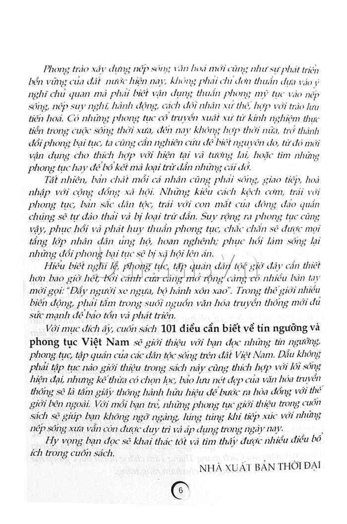 101 điều cần biết về tín ngưỡng và phong tục Việt Nam sách hoàn hảo