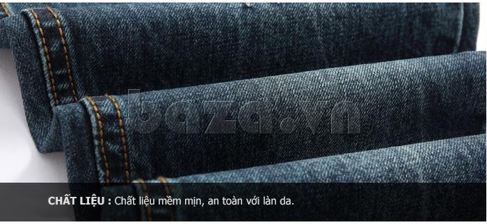 Chất liệu vải denim cotton mềm mịn, an toàn với da