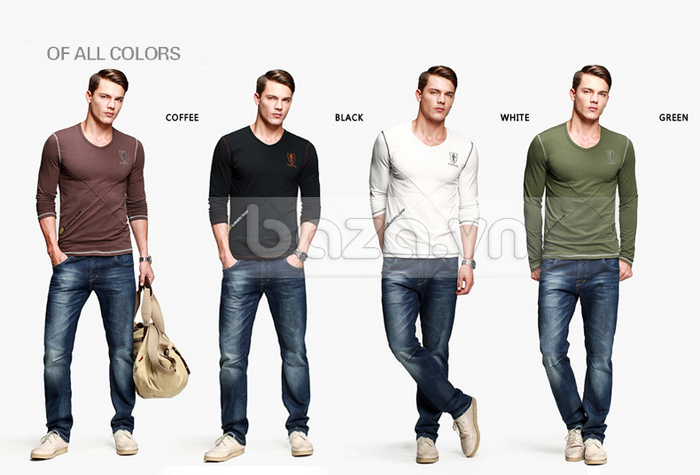 Baza.vn: Áo thu đông nam K-Jeans KT-8812 nhiều màu sắc đa dạng
