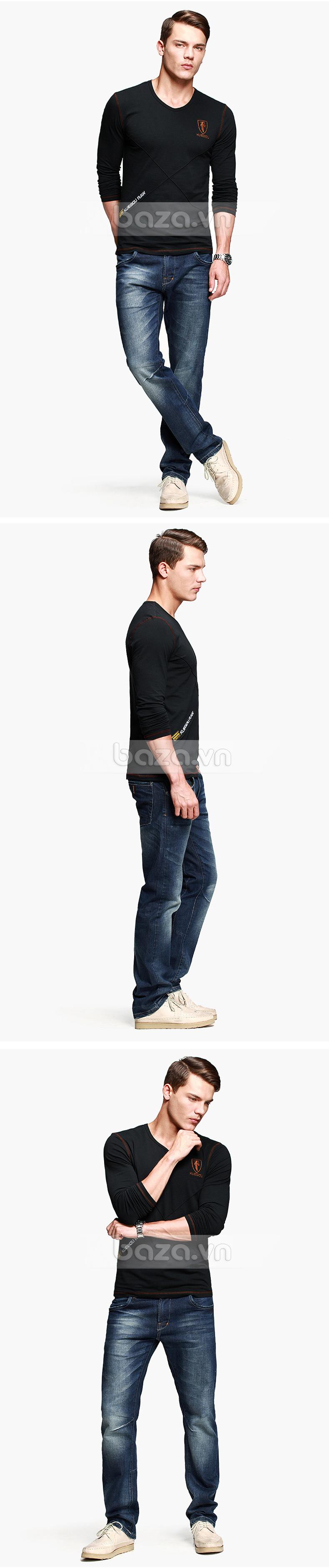 Baza.vn:  Áo thu đông nam K-Jeans KT-8812  hiệu quả phối đồ sang trọng và chất lượng