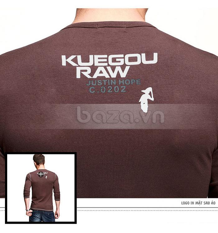 Áo thun nam dài tay K-Jeans KT-8812 logo ở đằng sau áo rất thời trang