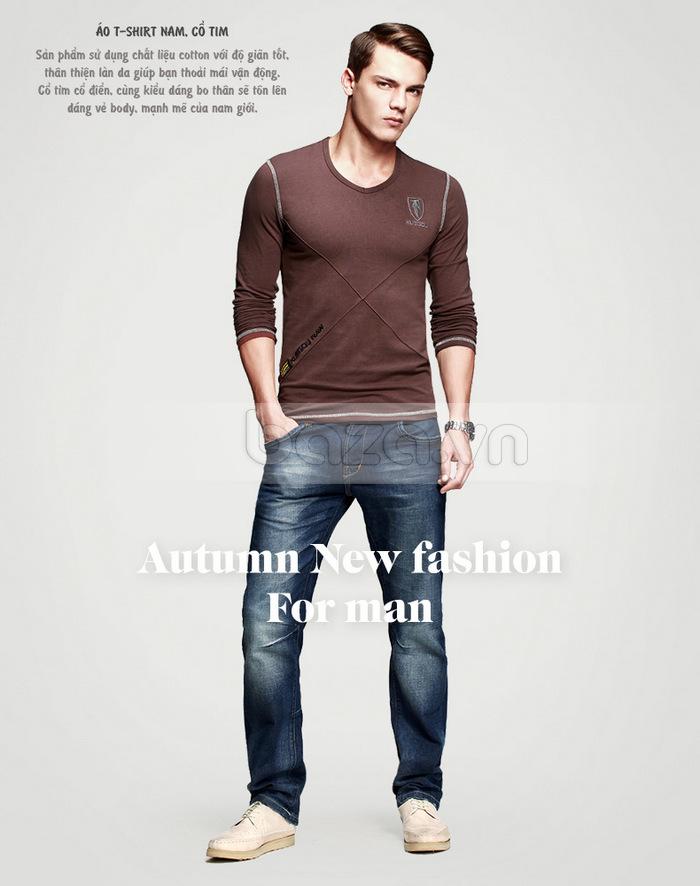 Áo thun nam dài tay K-Jeans KT-8812 sản phẩm áo thun chất lượng cao
