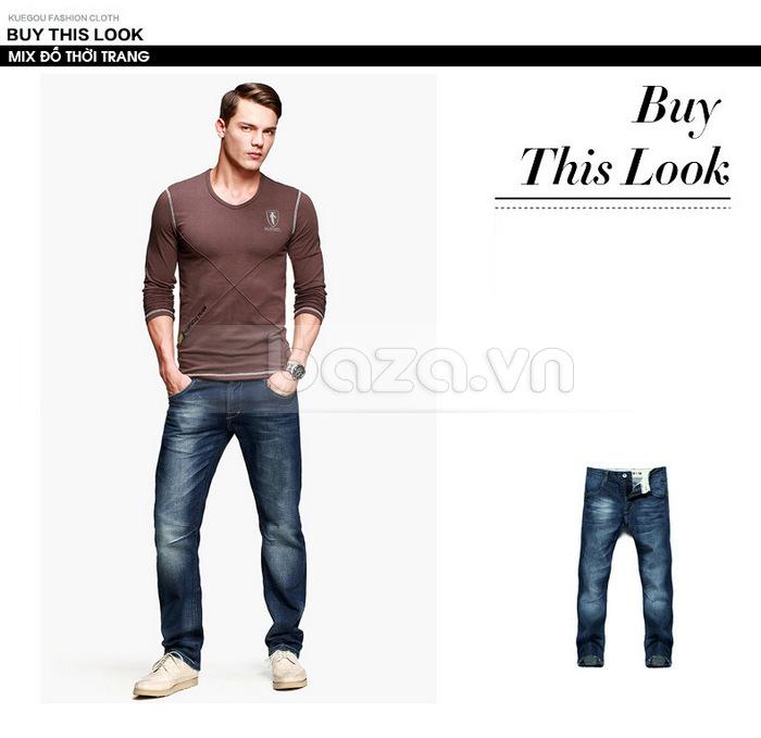 Áo thun nam dài tay K-Jeans KT-8812 dễ mix đồ thời trang