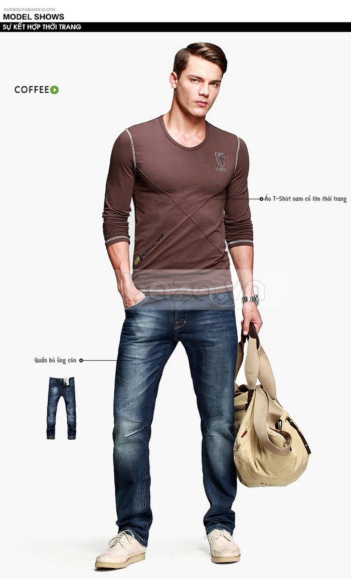 Áo thun nam dài tay K-Jeans KT-8812 sự kết hợp thời trang