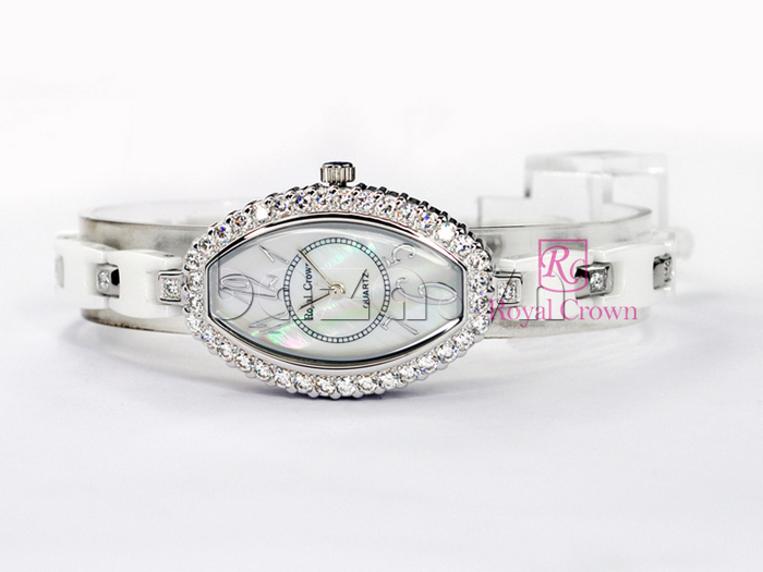 Đồng hồ nữ Royal Crown 3843 mặt hình oval