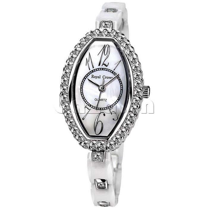 Đồng hồ nữ Royal Crown 3843 mặt số giờ cách điệu