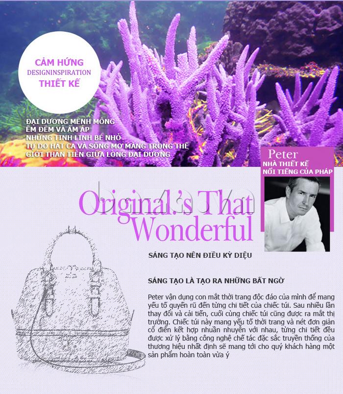 Túi xách nữ Binnitu B1393 Kiểu dáng độc đáo đại dương mênh mông