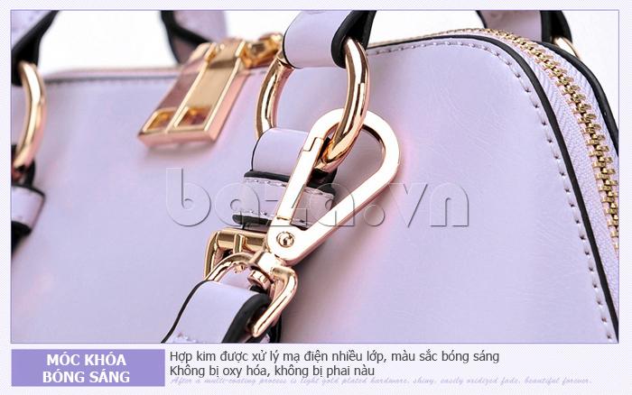 Túi xách nữ Binnitu B1393 Kiểu dáng độc đáo khóa sáng bóng và sang trọng