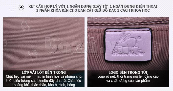 Túi xách nữ Binnitu B1393 Kiểu dáng độc đáo logo sang trọng