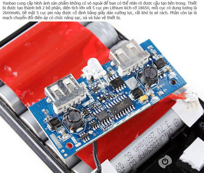 Pin dự phòng di động 13000mA Yoobao YB651 ấn tượng và nổi bật