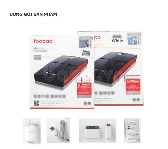 Pin dự phòng di động 13000mA Yoobao YB651 hoàn hảo