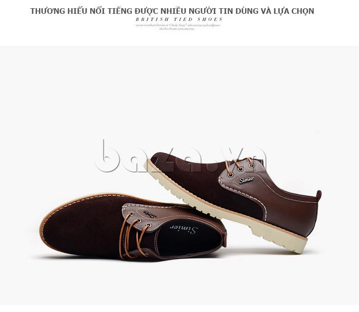 Giày da nam Simier 8118 thương hiệu nổi tiếng châu Á