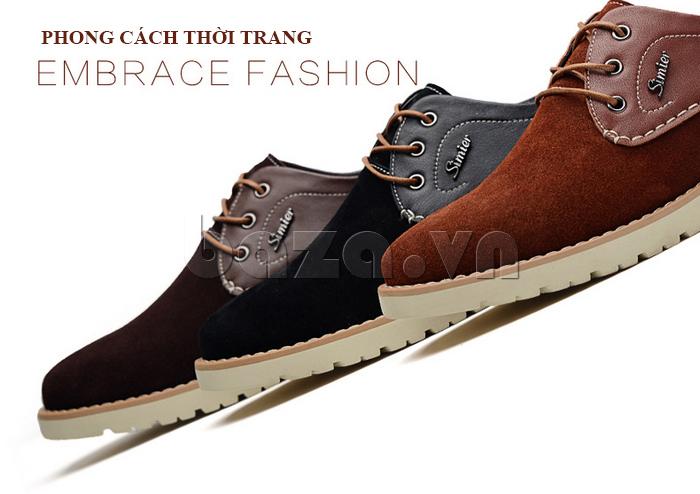 Giày da nam Simier 8118 - phong cách thời trang