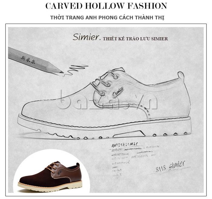 Giày da nam Simier 8118 thời trang và sành điệu